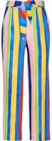 Mara Hoffman Striped Organic Linen Wide-leg Pants - Blue