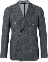Tagliatore double breasted blazer - men - Cotton/Linen/Flax/Acrylic/Cupro - 50
