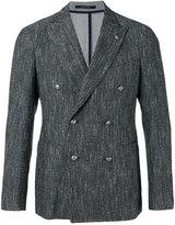 Tagliatore double breasted blazer - men - Cotton/Linen/Flax/Acrylic/Cupro - 50