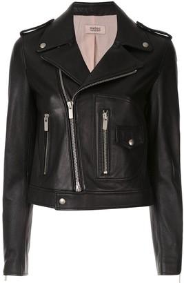 Yves Salomon Short Leather Biker Jacket