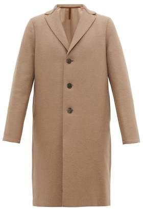 Harris Wharf London Single Breasted Wool Overcoat - Mens - Camel