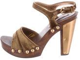 Miu Miu Wooden Platform Sandals
