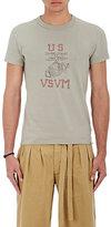 "Visvim Men's ""US VSVM"" Graphic Jersey T-Shirt-GREEN"
