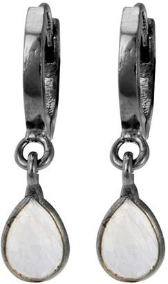 ADORNIA Moonstone Huggie Earrings