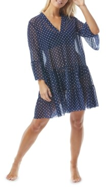 CoCo Reef Polka Dot Swim Cover-Up Dress Women's Swimsuit