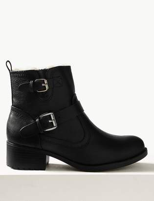 M&S CollectionMarks and Spencer Block Heel Biker Ankle Boots