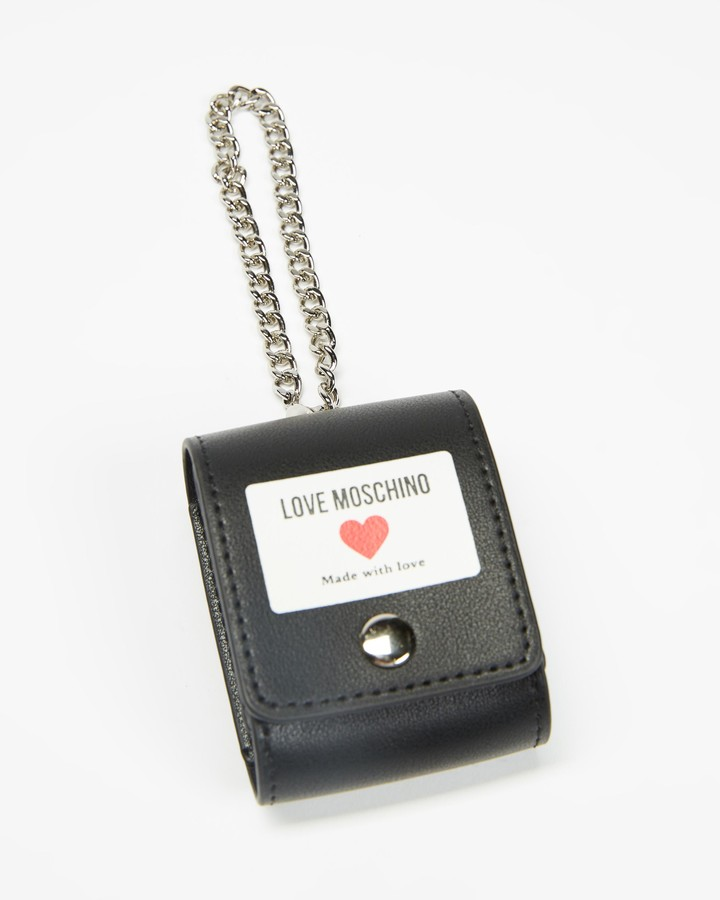 Love Moschino Women's Black Tech Accessories - Airpod Case - Size One Size at The Iconic