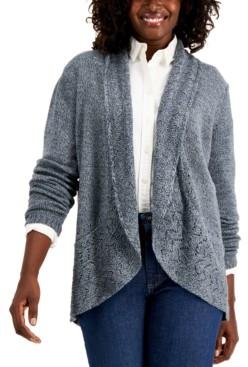 Karen Scott Marled-Knit Cardigan, Created for Macy's