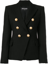 Balmain double breasted blazer - women - Cotton/Viscose - 42