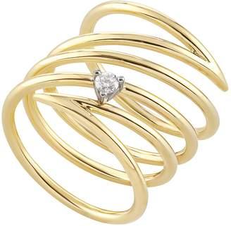 H.Stern Yellow Gold and Diamond Geometric Code Ring
