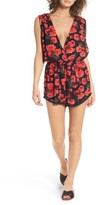 Billabong Women's 'Midnight Hour' Floral Print Romper