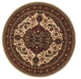 Loloi Rugs Loloi Stanley St07 Polyester 7Feet 7Inch By 7Feet 7Inch Round Area Rug Beige Rust