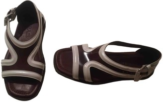 Prada Burgundy Leather Sandals