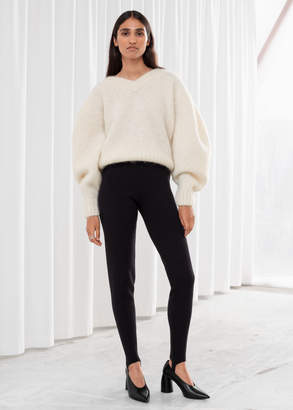 And other stories Foot Strap Knitted Leggings
