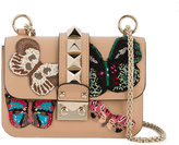 Valentino Embellished shoulder bag - women - Leather/metal - One Size