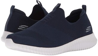 Skechers Elite Flex - Wasik (Navy) Men's Slip on Shoes