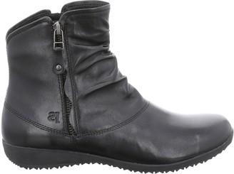 Josef Seibel Naly 24 Wedge Heel Ankle Boots, Black Leather