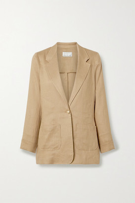 Miguelina Bleecker Linen Blazer - Light brown