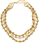 Jose & Maria Barrera Two-Tone Triple-Row Collar Necklace