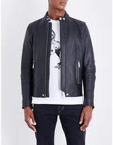 Diesel L-rush Elbow Patches Leather Jacket