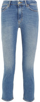 MiH Jeans Niki Cropped High-rise Skinny Jeans - Mid denim