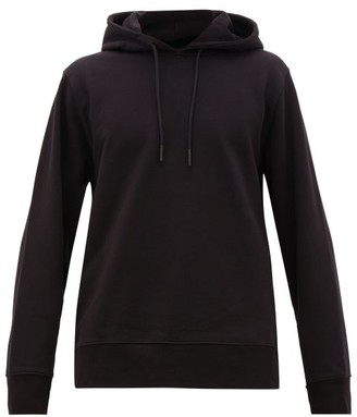 Y-3 Embroidered Cotton Hooded Sweatshirt - Mens - Black