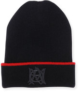 Alexander McQueen Reversible Insignia Beanie, Red/Black