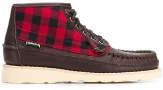 Sebago woven-check loafer boots