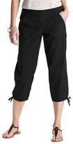 LOFT Petite Marisa Cropped Pants in Textured Cotton