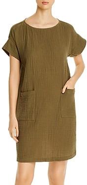 Eileen Fisher Organic Cotton Short-Sleeve Shift Dress