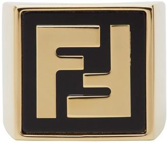 Fendi Gold Forever Signet Ring