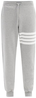 Thom Browne Striped Cotton-jersey Track Pants - Light Grey