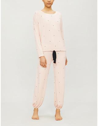 Eberjey Dotted modal-blend pyjama set