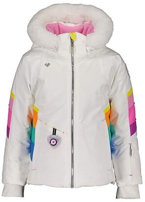 Obermeyer Katelyn Jacket with Faux Fur (Toddler/Little Kids/Big Kids) (White) Girl's Jacket