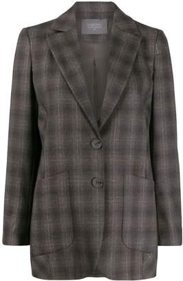 Lorena Antoniazzi fitted plaid blazer