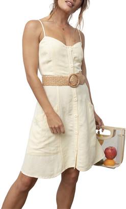 Rails Aurora Linen-Blend Mini Dress