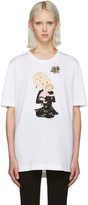 Dolce & Gabbana White Embroidered T-Shirt