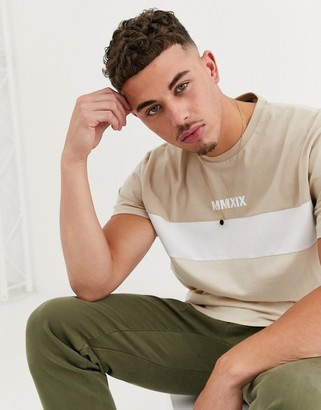 Asos DESIGN relaxed t-shirt with color block and roman numerals print