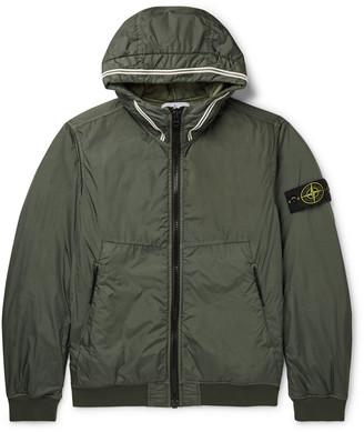 Stone Island Garment-Dyed Nylon Primaloft Hooded Jacket