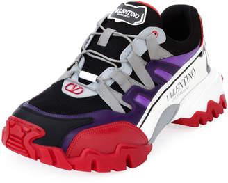 Valentino Garavani Men's Climbers Chunky Colorblock Sneakers