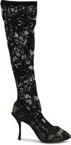 Dolce & Gabbana sheer lace boots