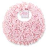 Mud Pie NEW*Mud Pie Pretty in Pink Chiffon Rosette Bib Baby Girls Size 11x10