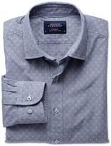 Charles Tyrwhitt Extra slim fit navy poplin dobby shirt