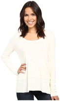 Lilla P Fine Rib Long Sleeve Swing Top