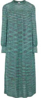 M Missoni Gathered Metallic Crochet-knit Midi Dress
