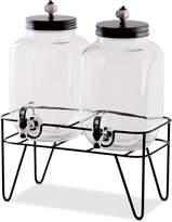 Home Essentials 1-Gallon Twin Beverage Dispenser with Ceramic Knobs