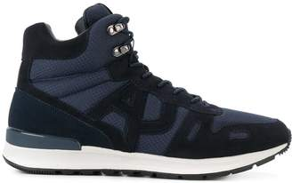 Armani Jeans contrast hi-top sneakers