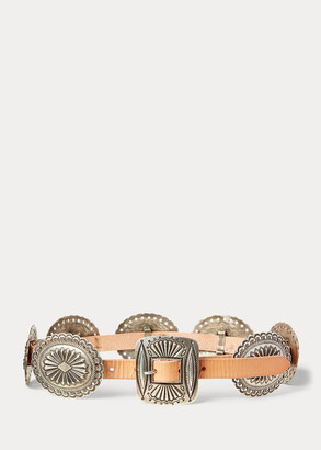 Ralph Lauren Concho Leather Belt