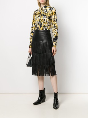 Karl Lagerfeld Paris Fringed Skirt