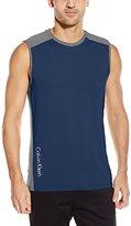 Calvin Klein Men's Sleeveless Color-Block Crew-Neck T-Shirt
